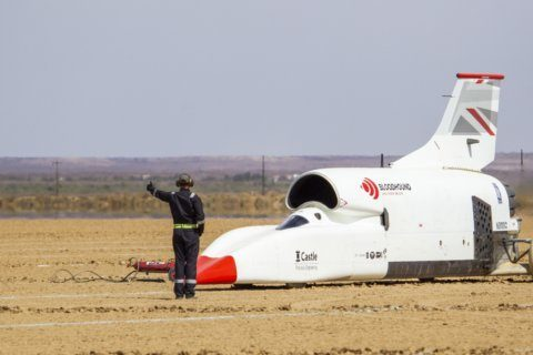Speedy Bloodhound car finishes testing in South Africa