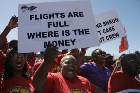 Strike begins at South Africa's state-owned airline