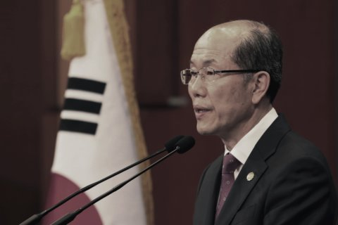 The Latest: Japan resumes export control talks with S. Korea