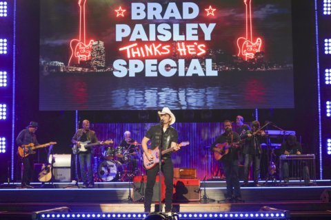 Brad Paisley happy to be butt of jokes in variety special