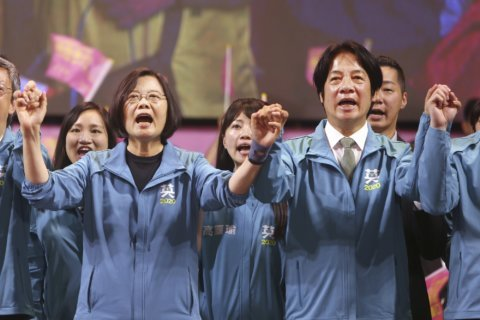 Taiwan's president predicts more pressure from China