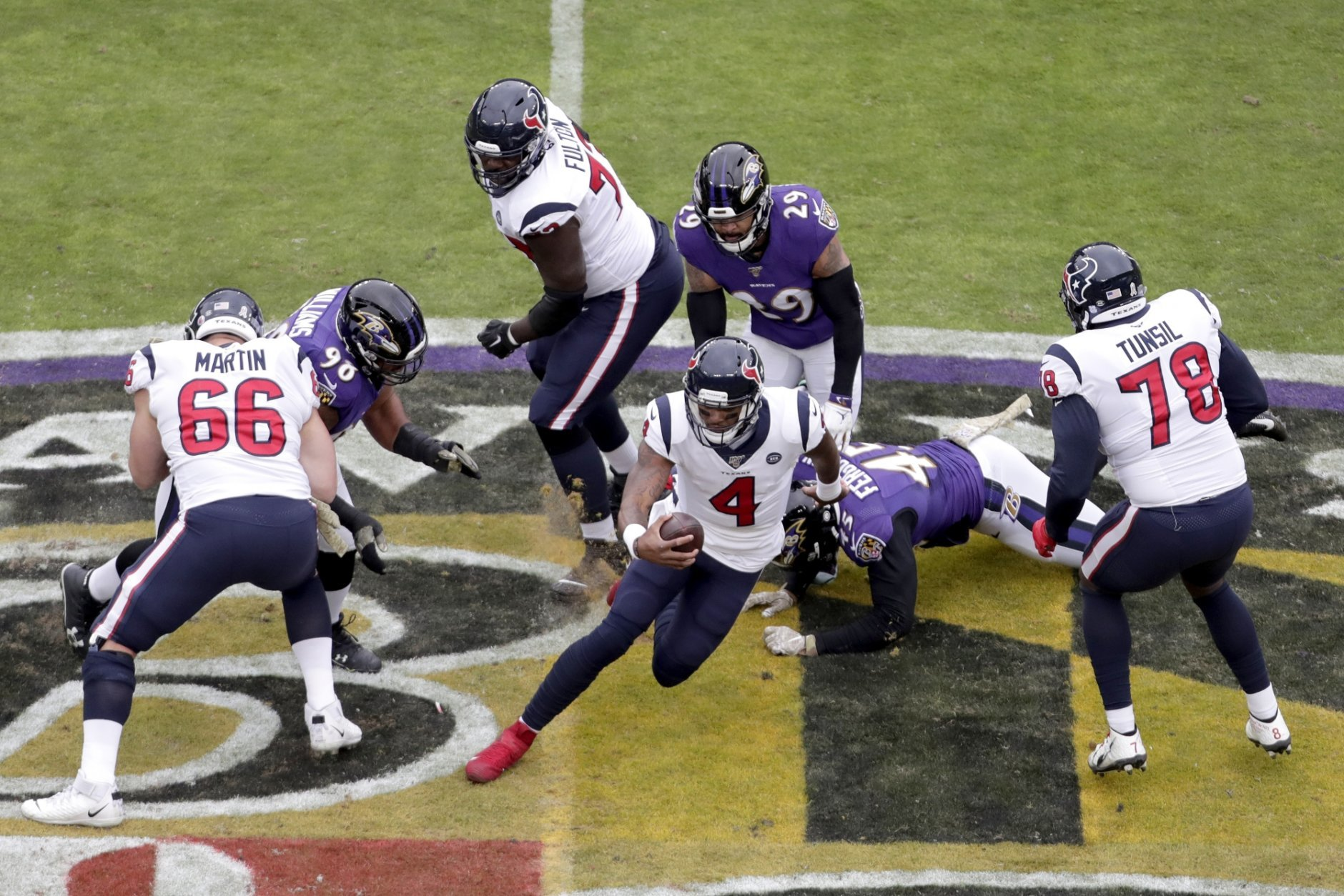 Ravens Harass Watson Beat Texans 41 7 For 6th Straight Win