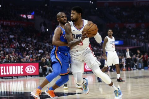 George's late 3 helps Clippers edge Thunder 90-88