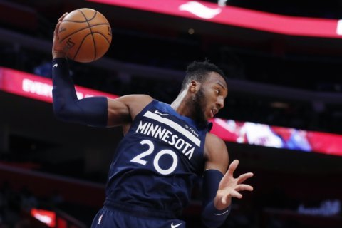 Timberwolves beat Pistons 120-114, spoiling Griffin's return