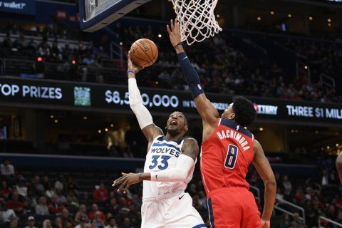 Wiggins' 21 points lead Wolves over Wizards, 131-109