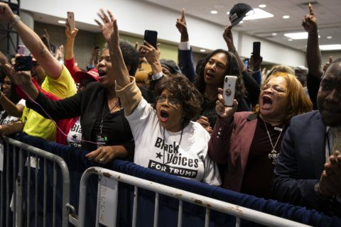 The Latest: Trump aims to pit black voters vs. immigrants