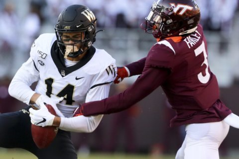 Top Wake receiver Sage Surratt out for season with injury