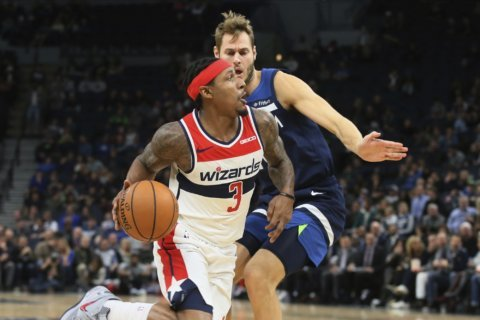 Beal scores 44 again as Wizards beat Timberwolves 137-116