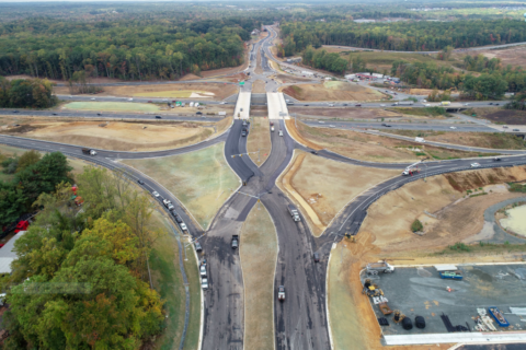 New I-95 'diverging diamond intersection' in Stafford Co. nears completion