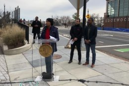 Mayor Muriel Bowser was on hand to celebrate the bridge's opening.