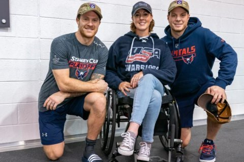 Capitals surprise Navy veteran with new wheelchair