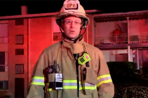 Over two dozen displaced in Falls Church apartment blaze