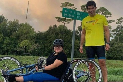 After life-changing paralysis, woman is racing in NYC Marathon with best friend