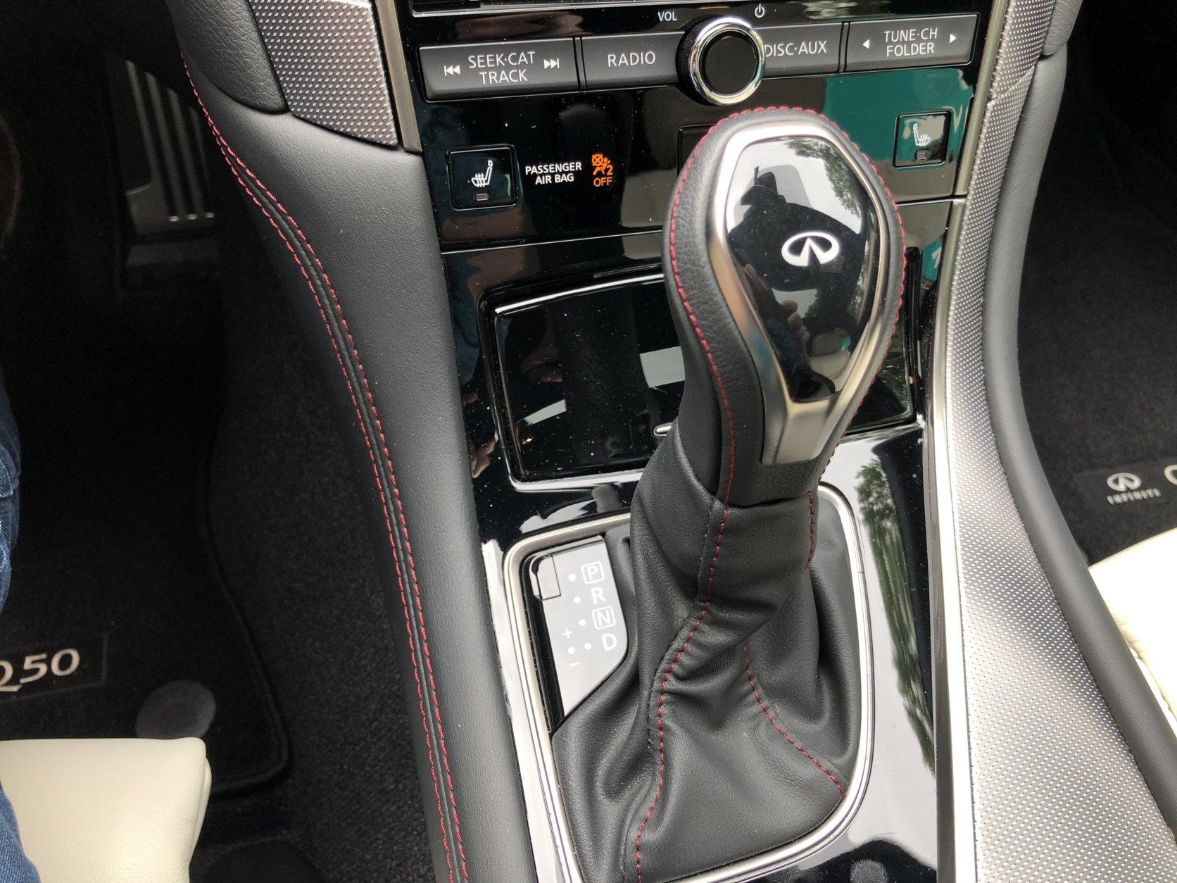 Infiniti Q50 Red Sport 400 interior