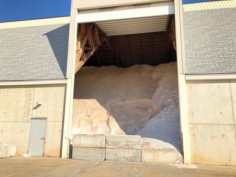 road salt being stored