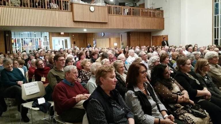 Constituents listening to U.S. Rep. Jamie Raskin