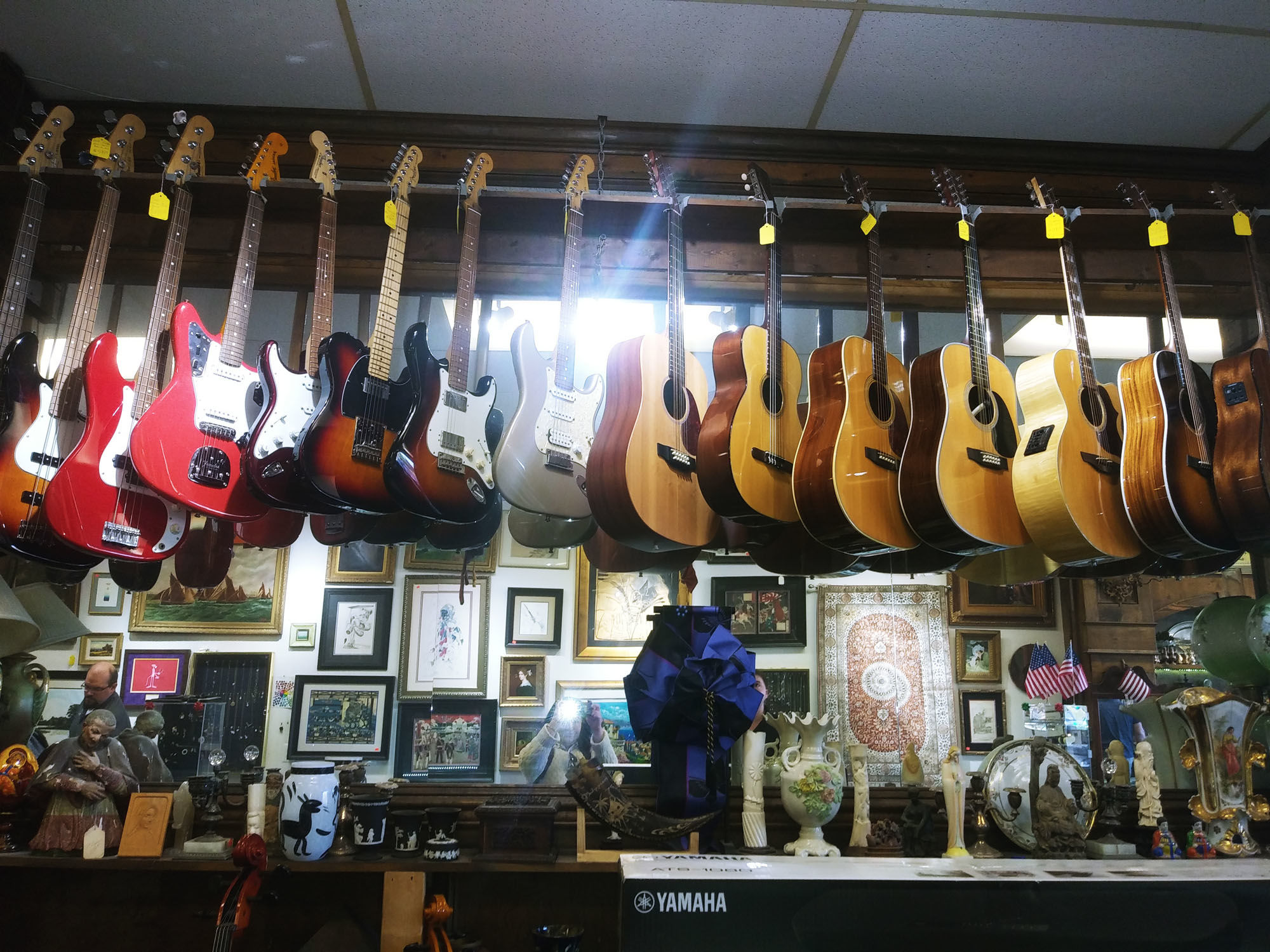 guitars, pawn shop