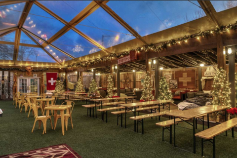DC tavern Hook Hall transforms into rustic ski lodge