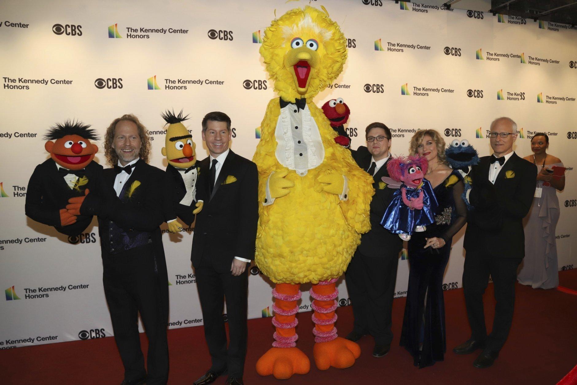 Ernie, Bert, Big Bird, Elmo, Abby Cadabby, Cookie Monster