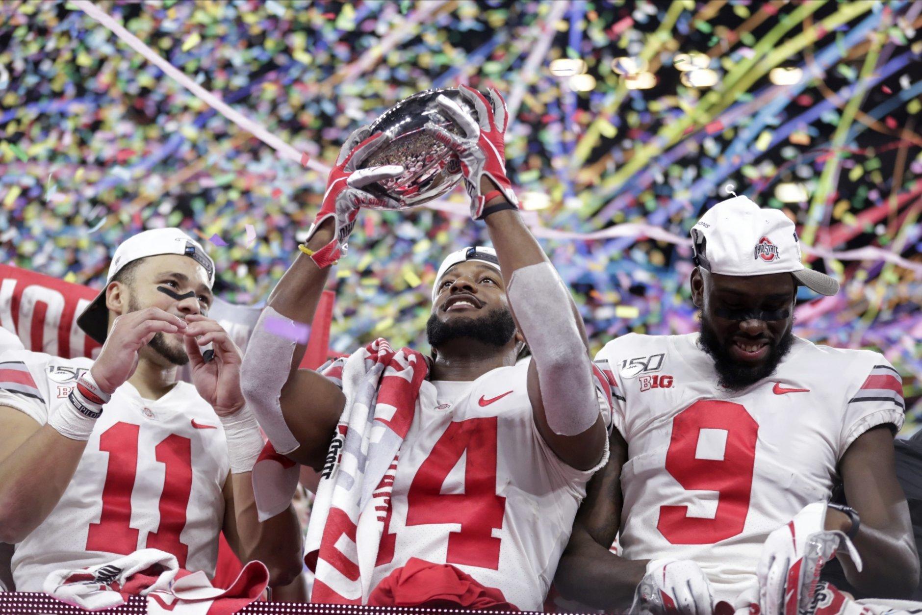 ohio state football championship ten vs clemson playoff lsu college oklahoma conference hill osu trophy wkbn recaps showdowns ncaa pandemic