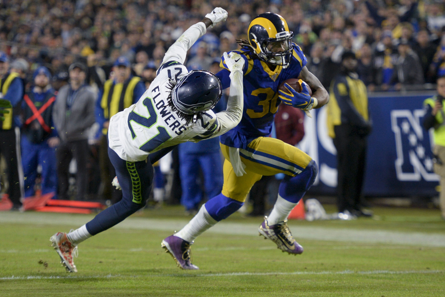 """<p><b><i>Seahawks 12</i></b><br /> <b><i>Rams 28</i></b></p> <p>Clearly, <a href=""""https://profootballtalk.nbcsports.com/2019/12/04/sean-mcvay-attributes-increased-todd-gurley-usage-to-me-not-being-an-idiot/"""">Sean McVay is not an idiot</a>. Todd Gurley again carried a full load and Jared Goff again had a good night for a Rams offense looking more like the team that represented the NFC in last season&#8217;s Super Bowl. L.A. is back to being must-see TV.</p>"""