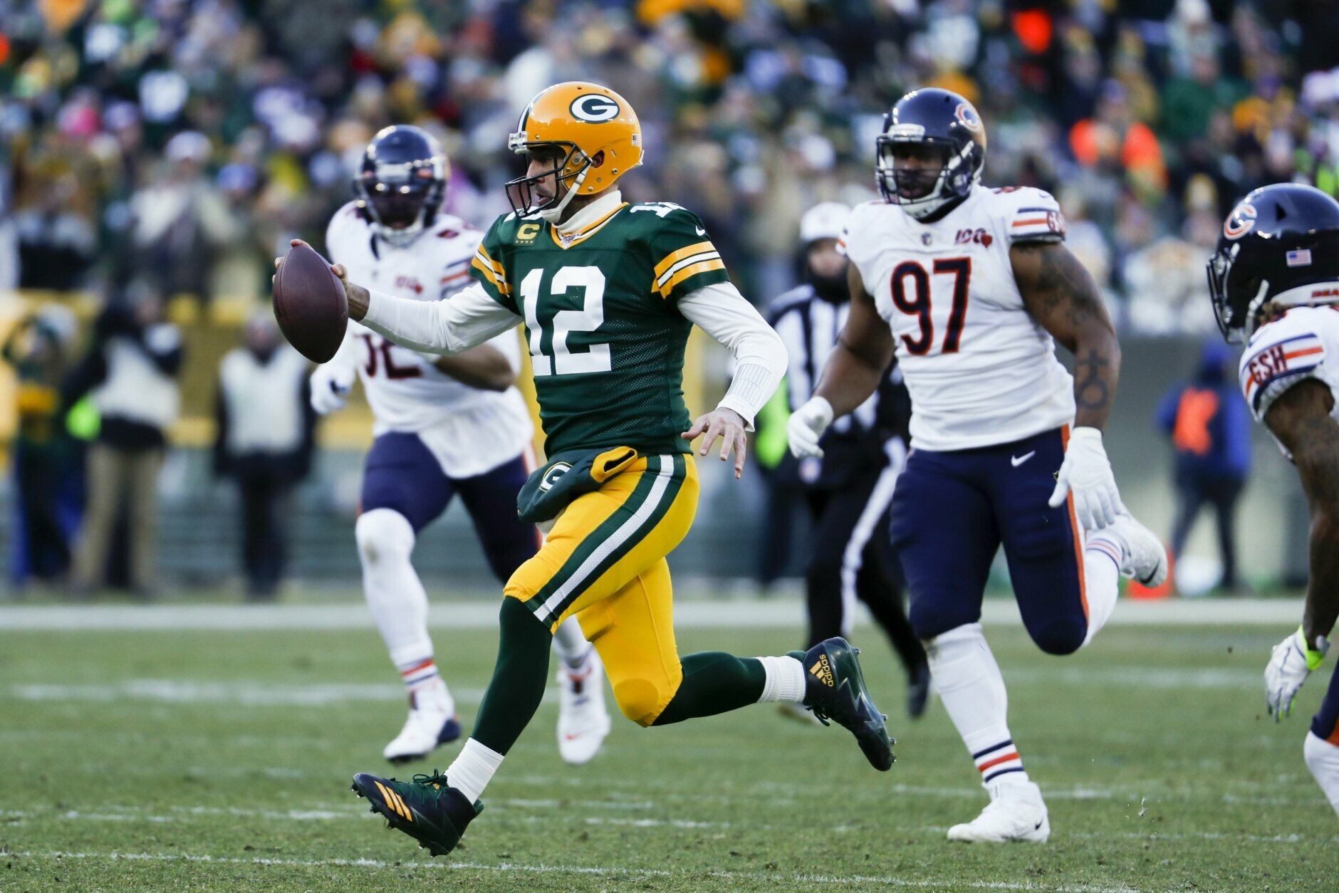 <p><b><i>Bears 13</i></b><br /> <b><i>Packers 21</i></b></p> <p>In the 200th meeting between these storied rivals, Green Bay clinched a playoff berth at Chicago&#8217;s expense, sweeping the regular season series for seventh time in the last 11 seasons and 15th time in the last 26 years. The Bears have a lot to answer for.</p>