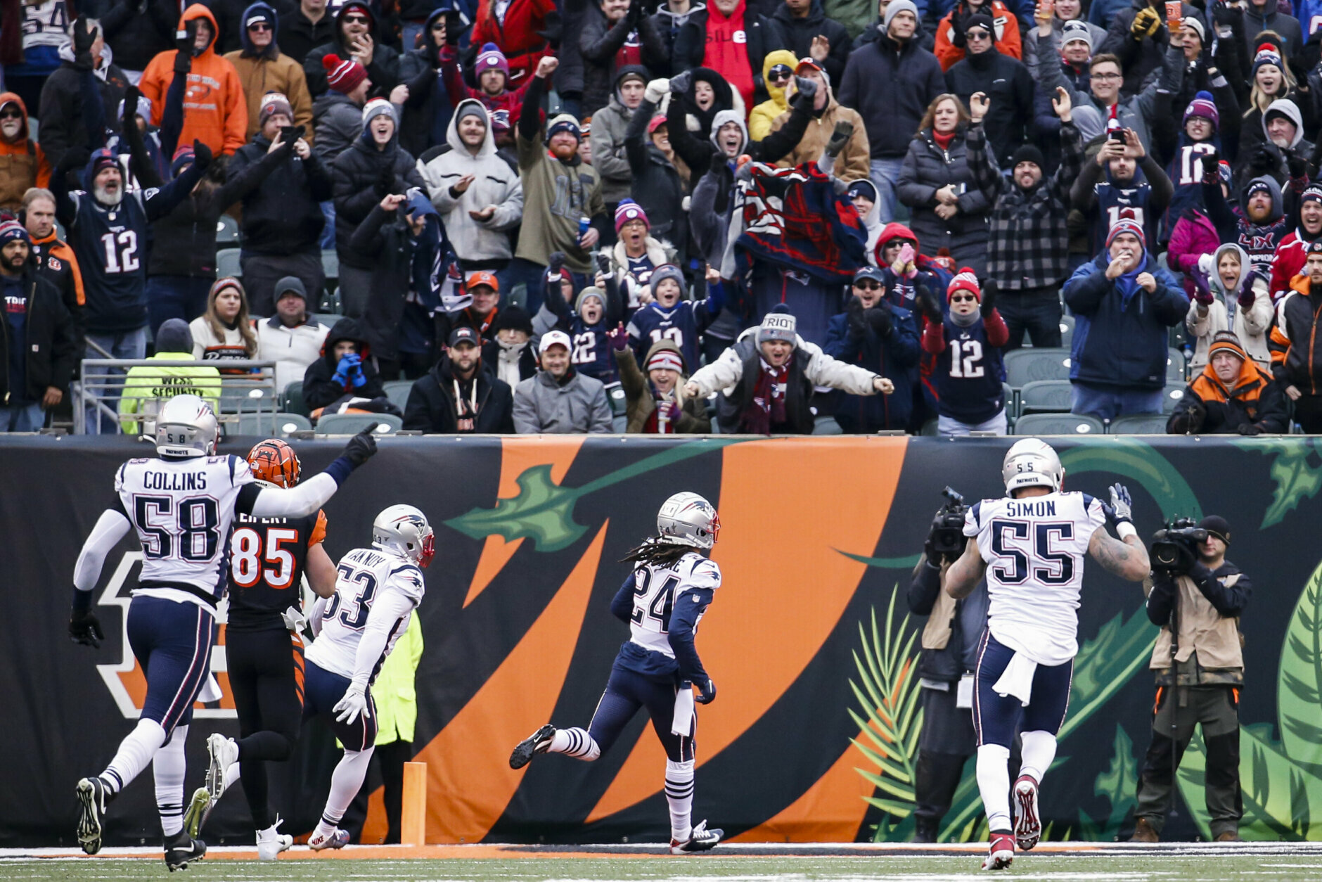 "<p><b><i>Patriots 34</i></b><br /> <b><i>Bengals 13</i></b></p> <p>New England certainly didn&#8217;t need to cheat to beat Cincinnati, posting their highest scoring output since Week 6 and clinching a playoff berth for the 11th straight season. But of course, that won&#8217;t stop the NFL from dragging the Patriots through <a href=""https://profootballtalk.nbcsports.com/2019/12/15/spygate-2-investigation-closer-to-beginning-than-end/"" target=""_blank"" rel=""noopener"">another ridiculously-named investigation</a> into something blown completely out of proportion.</p>"