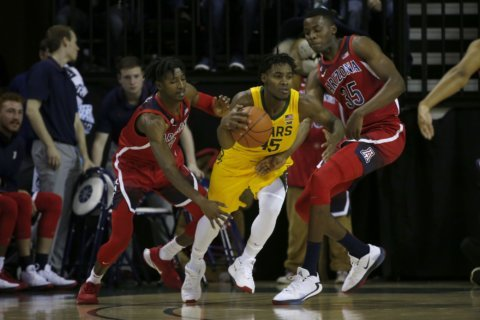No. 18 Baylor beats No. 12 Arizona 63-58 in freebie for fans