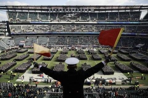 Army-Navy rivalry features Trump attending 120th game