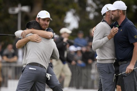 Leishman, Ancer stage improbable comeback at Presidents Cup