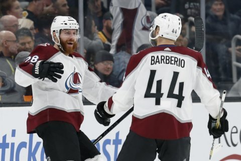 Avalanche send Bruins to 1st home regulation loss, 4-1