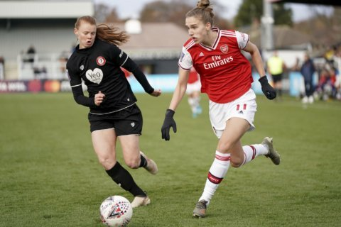 Miedema scores 6 to lead Arsenal to record 11-1 WSL win