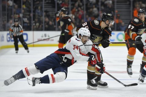 Vrana's goal gives Capitals 3-2 victory over Ducks