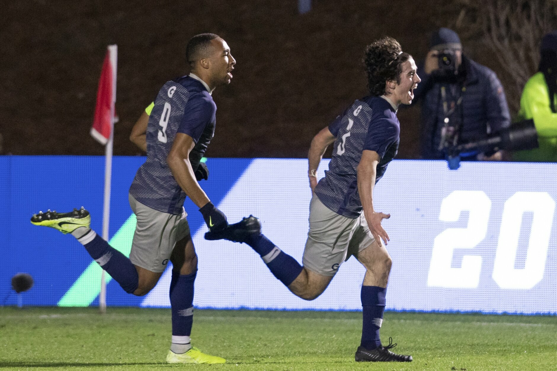 <p><strong>9. Georgetown soccer wins title in PKs</strong></p> <p>A rollicking, back-and-forth game that saw Georgetown push ahead in the 81<sup>st</sup> minute, only for Virginia to tie it in the 86<sup>th</sup> couldn't be settled by two overtime periods. Deadlocked 3-3, nobody could miss in penalty kicks until the Hoyas' freshman keeper Tomas Romero saved Axel Gunnarsson's shot on in the seventh round, clinching the first ever soccer title for the Hoyas. Despite featuring a matchup of the nation's top two defenses, Georgetown and Virginia combined for six goals, the three against the Cavaliers marking a season high.</p>