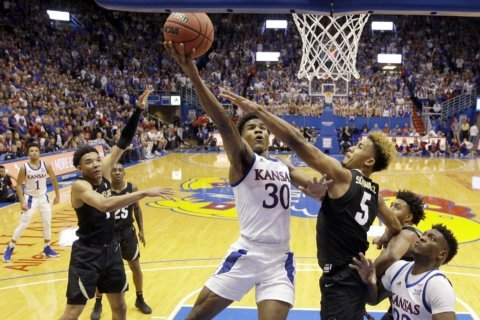 No. 2 Kansas hands No. 20 Colorado first loss 72-58