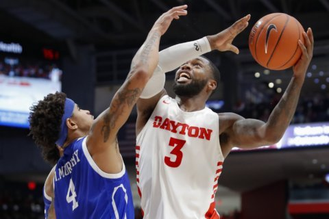 Watson scores 20, No. 14 Dayton pulls away from Drake 78-47