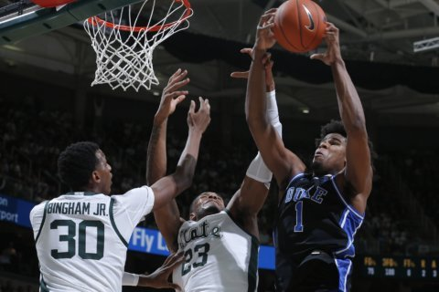 No. 10 Duke dominates No. 11 Michigan State, 87-75