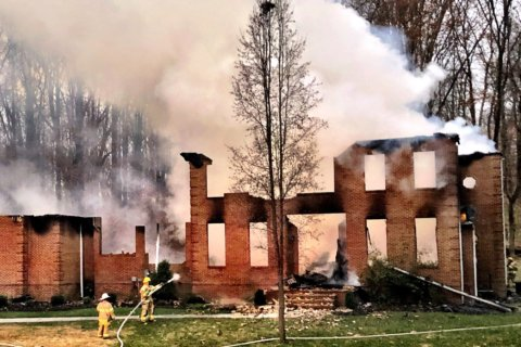 Prince George's County home suffers total collapse in massive fire