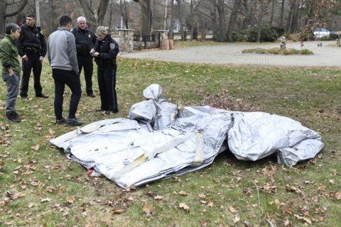 Evacuation slide falls from jet, lands in yard; no one hurt