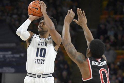Merrill, Porter lead No. 25 Utah State past Fresno State