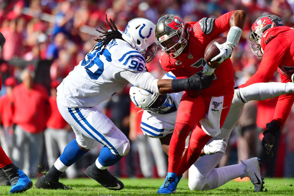 """<p><b><i>Colts 35</i></b><br /> <b><i>Bucs 38</i></b></p> <p>Credit to Coach Kangol: He&#8217;s got Tampa <a href=""""https://www.tampabay.com/sports/bucs/2019/12/05/bruce-arians-to-his-team-about-playoffs-youre-in-it/"""" target=""""_blank"""" rel=""""noopener"""">believing they&#8217;re a playoff team</a> and everyone not named Jameis Winston is playing like it. If the Bucs finally purge themselves of The Human Turnover, they might actually be good enough to <a href=""""https://www.youtube.com/watch?v=2L2p9fldkZ0"""" target=""""_blank"""" rel=""""noopener"""">eat some W&#8217;s</a> in 2020.</p>"""