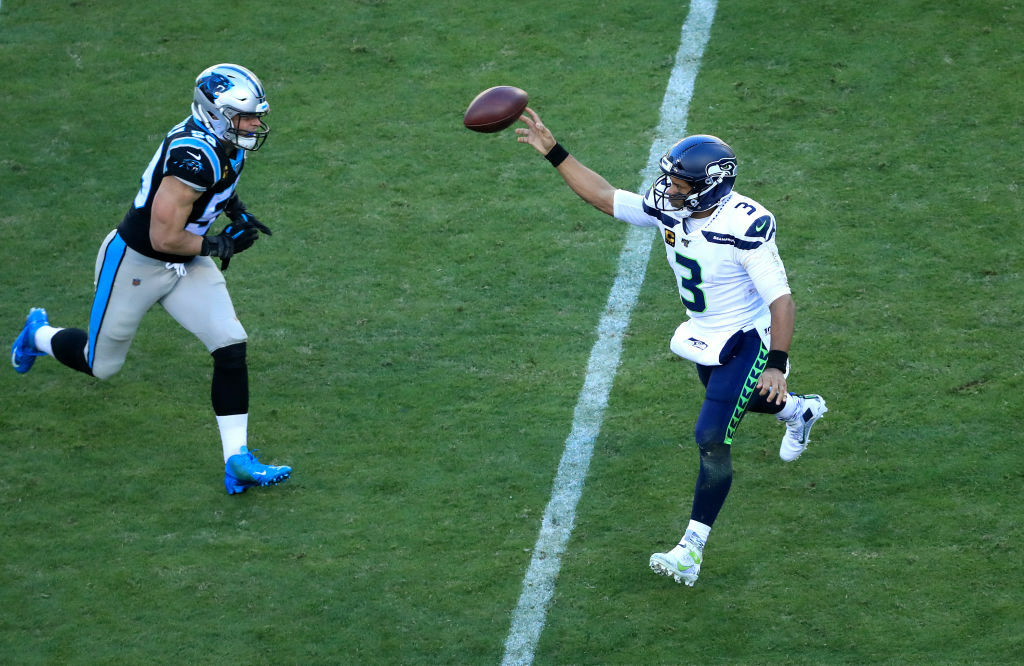 "<p><b><i>Seahawks 30</i></b><br /> <b><i>Panthers 24</i></b></p> <p>Seattle went from <a href=""https://twitter.com/BradyHenderson/status/1203943076772761600"" target=""_blank"" rel=""noopener"">falling off their high horse</a> to becoming the first team in 41 years to win 10 one-score games in a season en route to their first 11-win season since their 2014 Super Bowl campaign. If the Seahawks lock up homefield advantage, they&#8217;re almost certain to make a return trip.</p>"