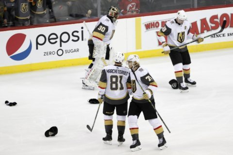 Marchessault's hat trick leads Golden Knights past Devils