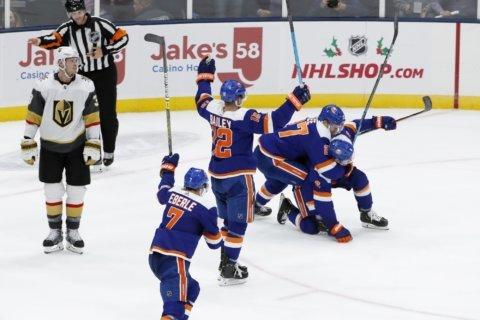 Pulock's goal in OT lifts Islanders over Golden Knights 3-2
