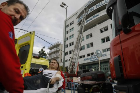 Greek authorities suspect arson in Athens hotel fire