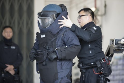 Hong Kong police defuse bombs designed 'to kill and to maim'
