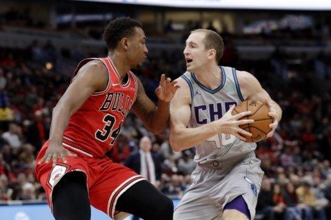 Hornets use balanced scoring to beat Bulls 83-73