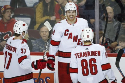 Hurricanes cool off Flames with 4-0 victory