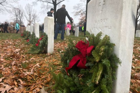 'Breathtaking': Wreaths Across America volunteers honor service members at Arlington