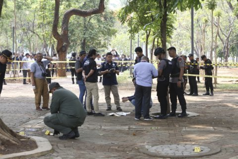 Smoke grenade explodes in Indonesia park, injures 2 soldiers
